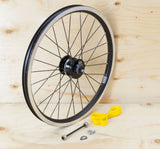 Brompton Dynamo Front Wheel Kit - SP SV-8 on Brompton Rim in Black