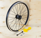 Brompton Dynamo Front Wheel Kit - SP SV-9 on Velocity Rim in Black