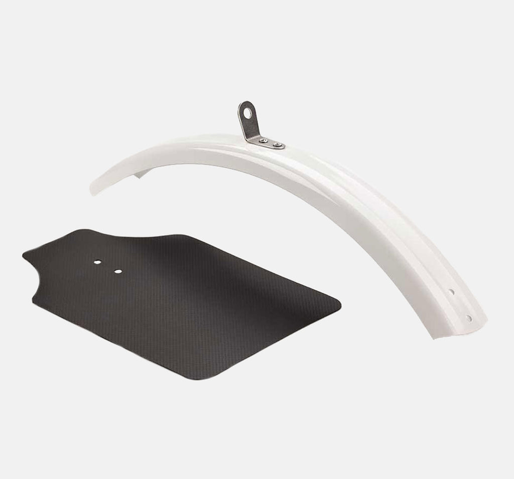Brompton Front Mudguard Blade & Flap in White