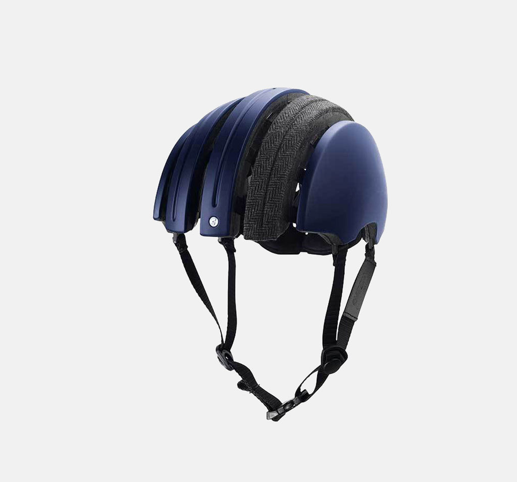 Brooks Boultbee Foldable Helmet In Blue - Special Collapsible Helmet