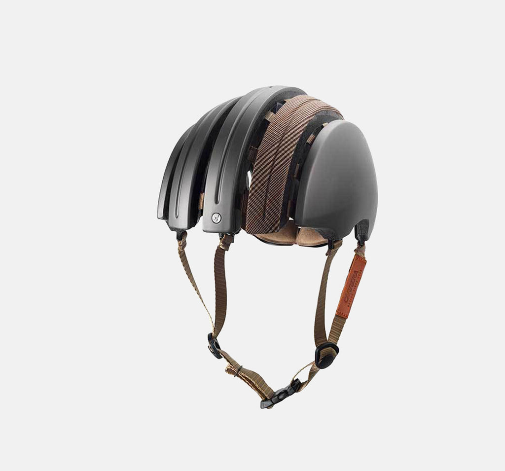Brooks Boultbee JB Carrera Helmet In Grey - Stylish Cycling Helmet Foldable