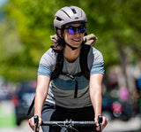 Bell Daily LED MIPS Helmet in Matte Cement on Cyclist