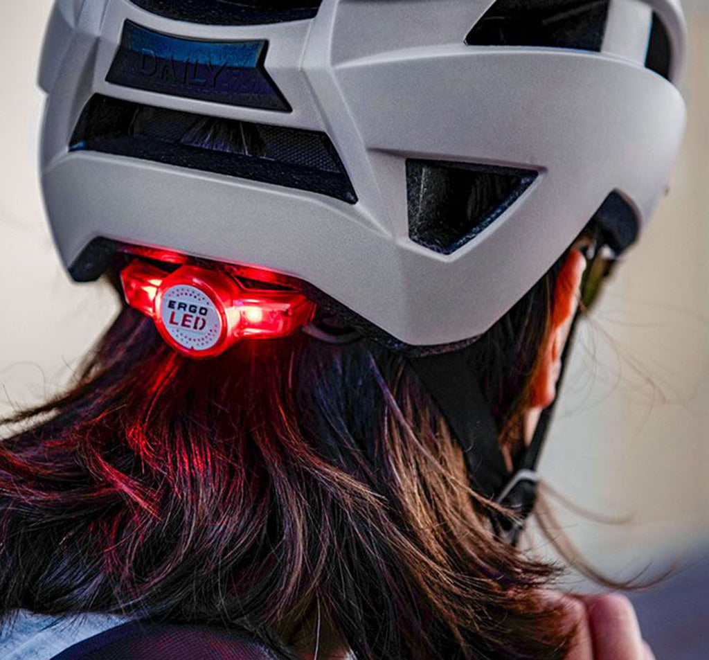 Bell Daily LED MIPS Helmet in Matte Cement - Rear View Light