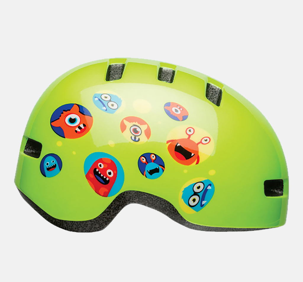 Bell Lil Ripper Kids Helmet - Green w/ Monsters