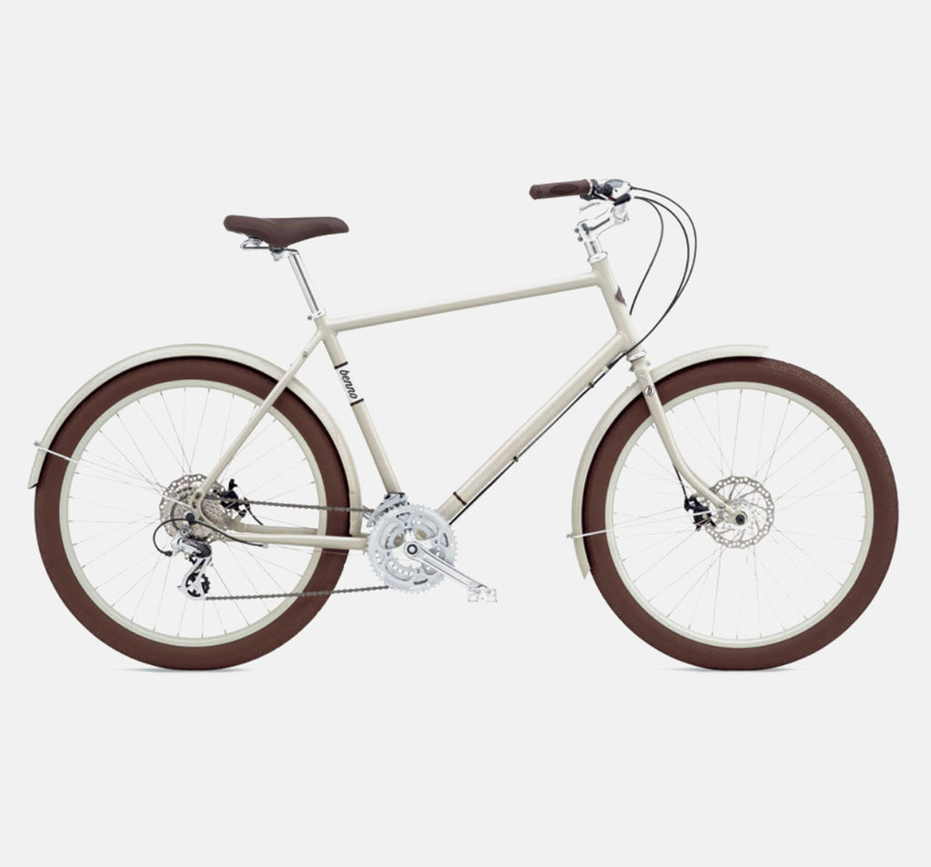 Benno Ballooner 24 Speed Cruiser Bike in Oyster Grey