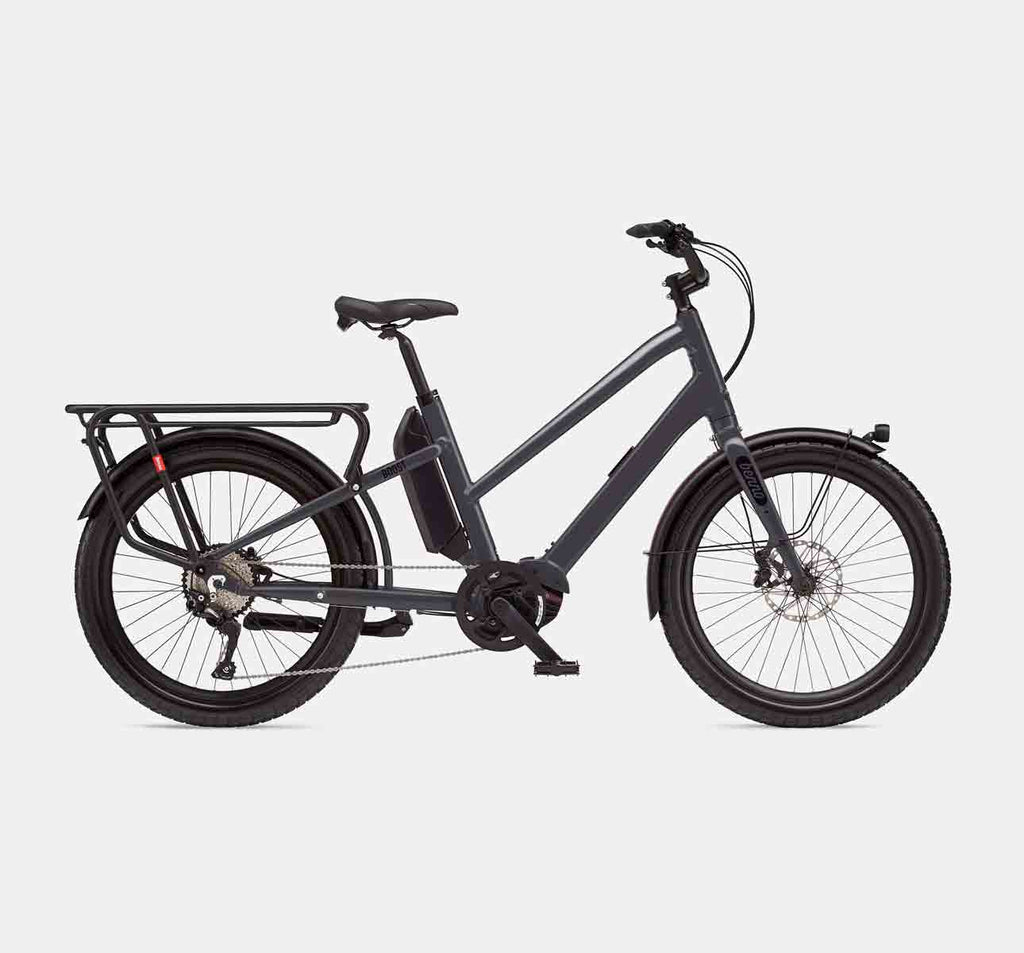 Benno Boost E Step-Through Longtail Cargo E-Bike - Anthracite Grey