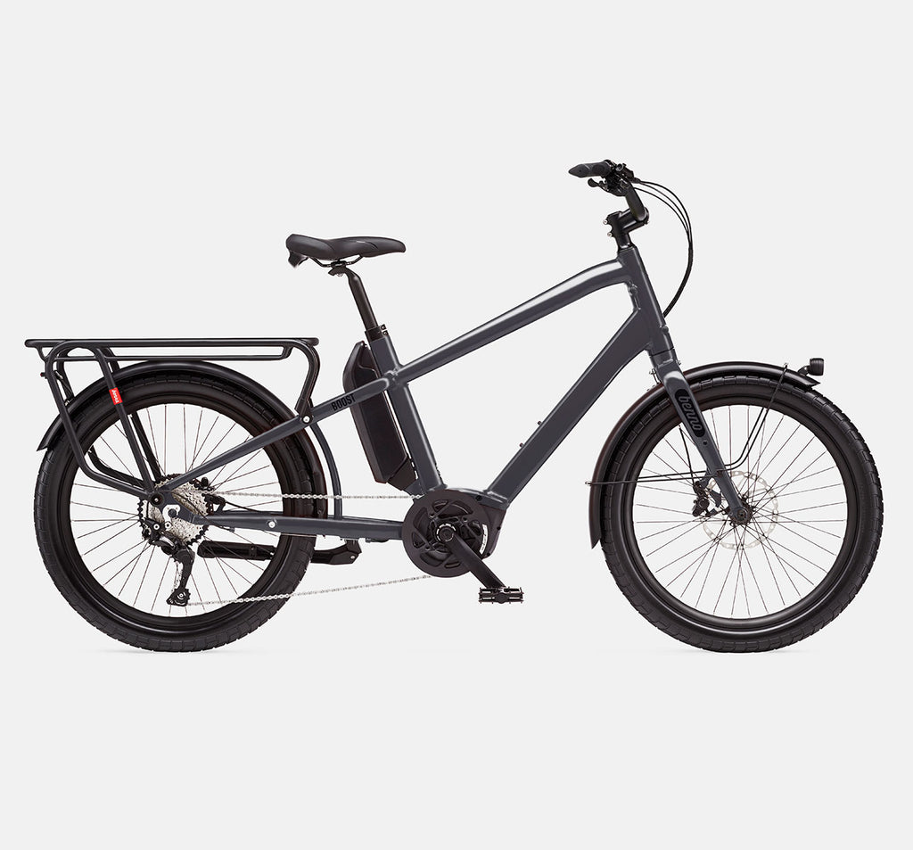Benno Boost E Longtail Cargo E-Bike - Anthracite Grey