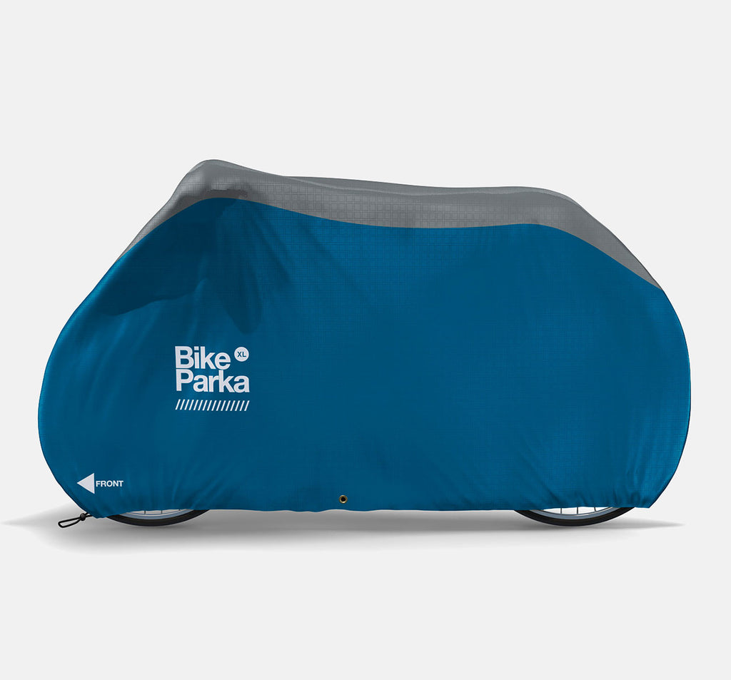 BikeParka XL Bicycle Cover for Outdoor Storage - Ciel Blue