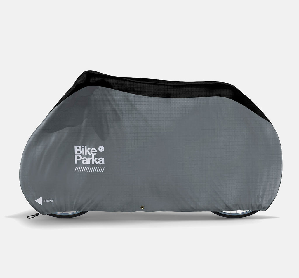 BikeParka XL Bicycle Cover for Outdoor Storage - Pavement Grey