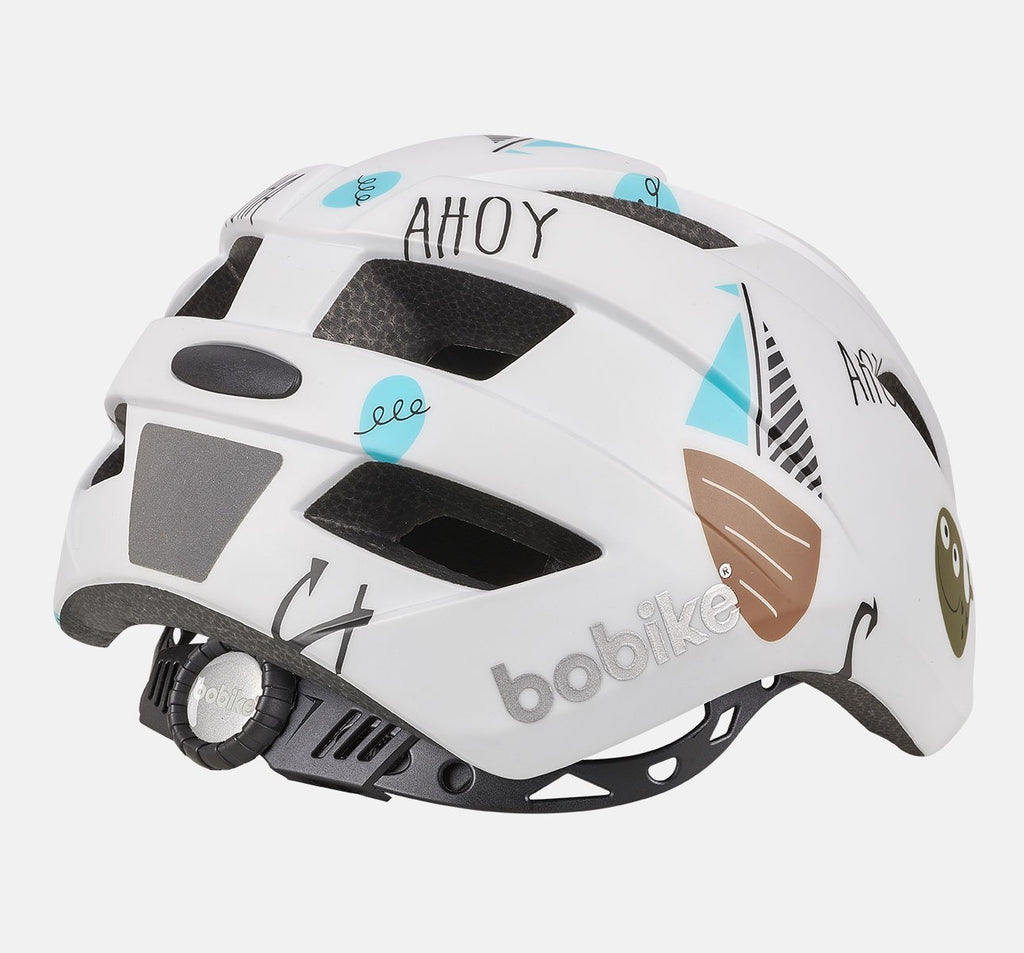 Back of Bobike Kids Plus Helmet - Extra Small (XS) - Ahoy Pattern