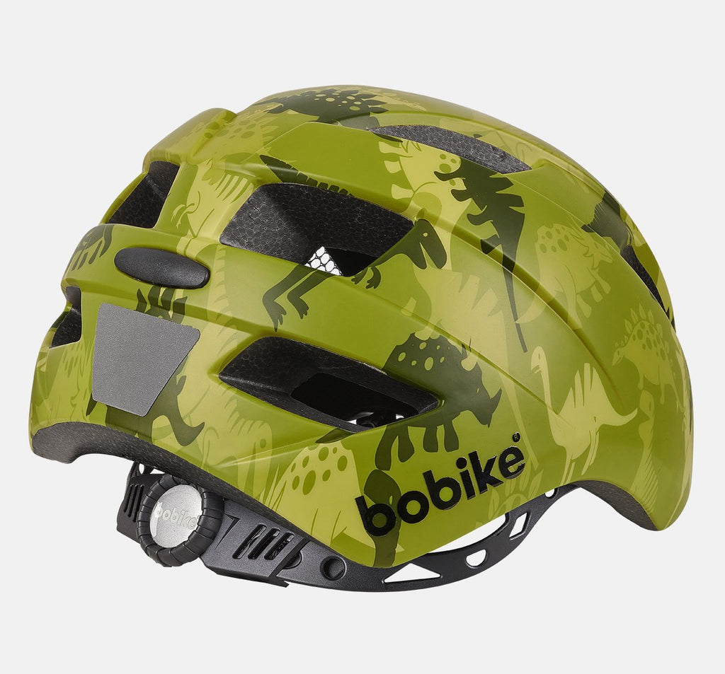 Rear of Bobike Kids Plus Helmet - Small (S) - Dino