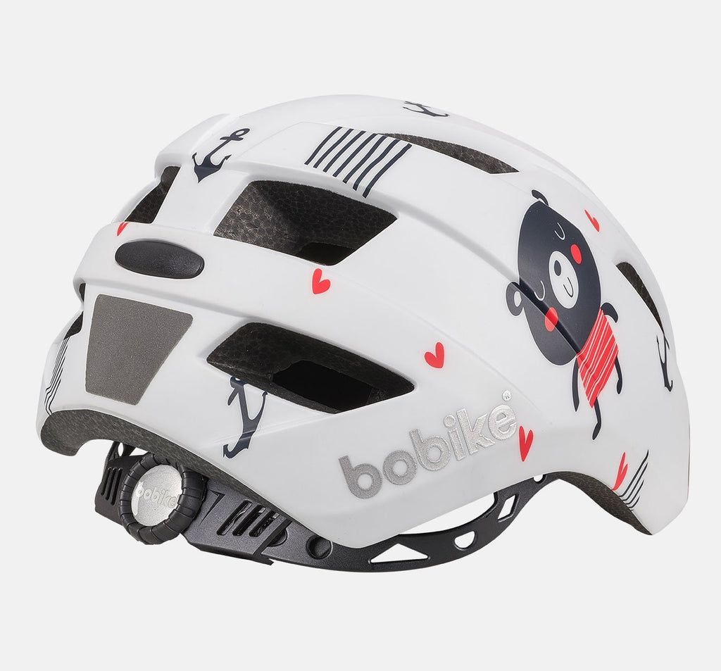 Back of Bobike Kids Plus Helmet - Extra Small (XS) - Teddy Bear