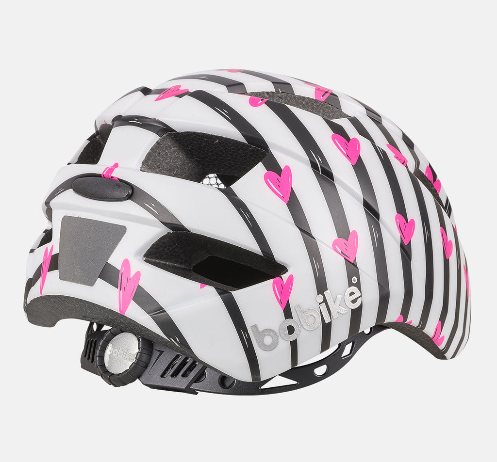 Rear of Bobike Kids Plus Helmet - Small (S) - Pinky Zebra