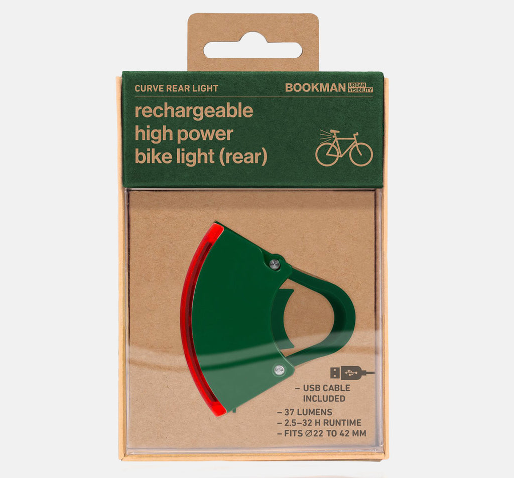 Bookman Curve Rear Light in Green