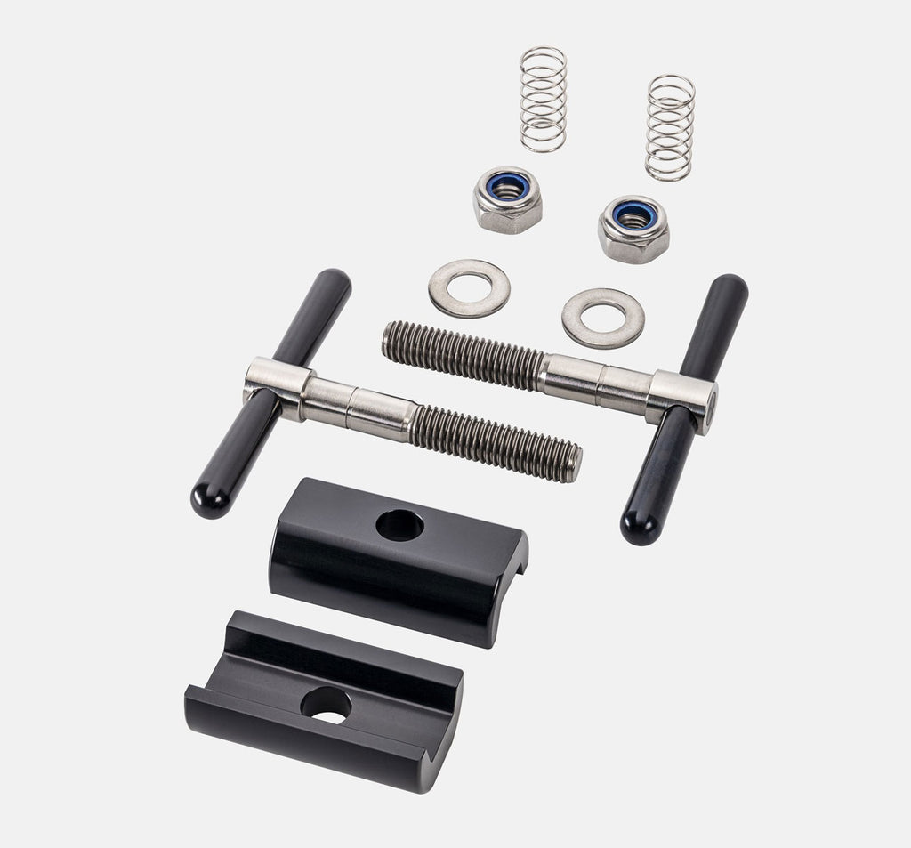 Brompfication Hinge Clamp Set with Black Titanium Plates and Black Levers