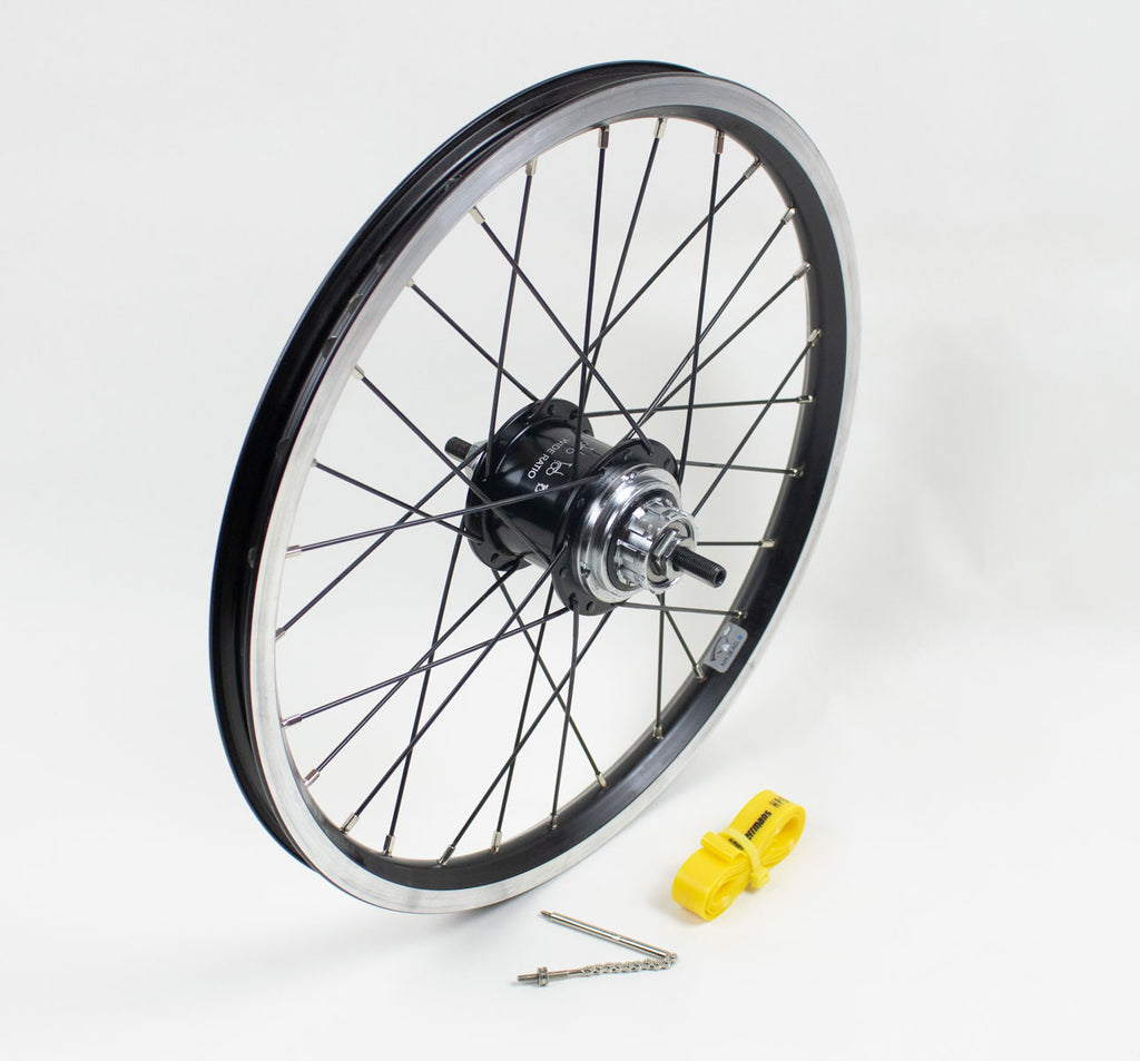 Brompton 3-Speed BWR Rear Wheel for 6-Speed bikes in Black