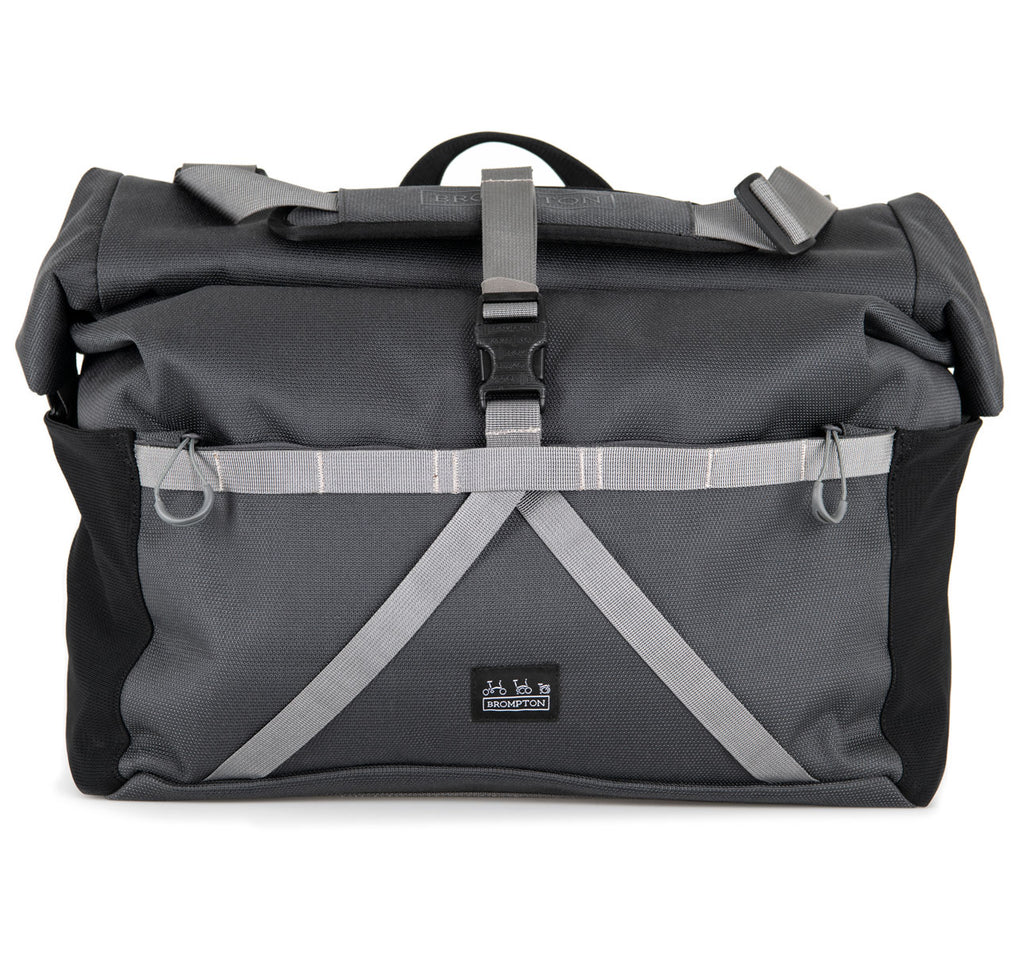 Brompton Borough Roll Top Bag L in Grey