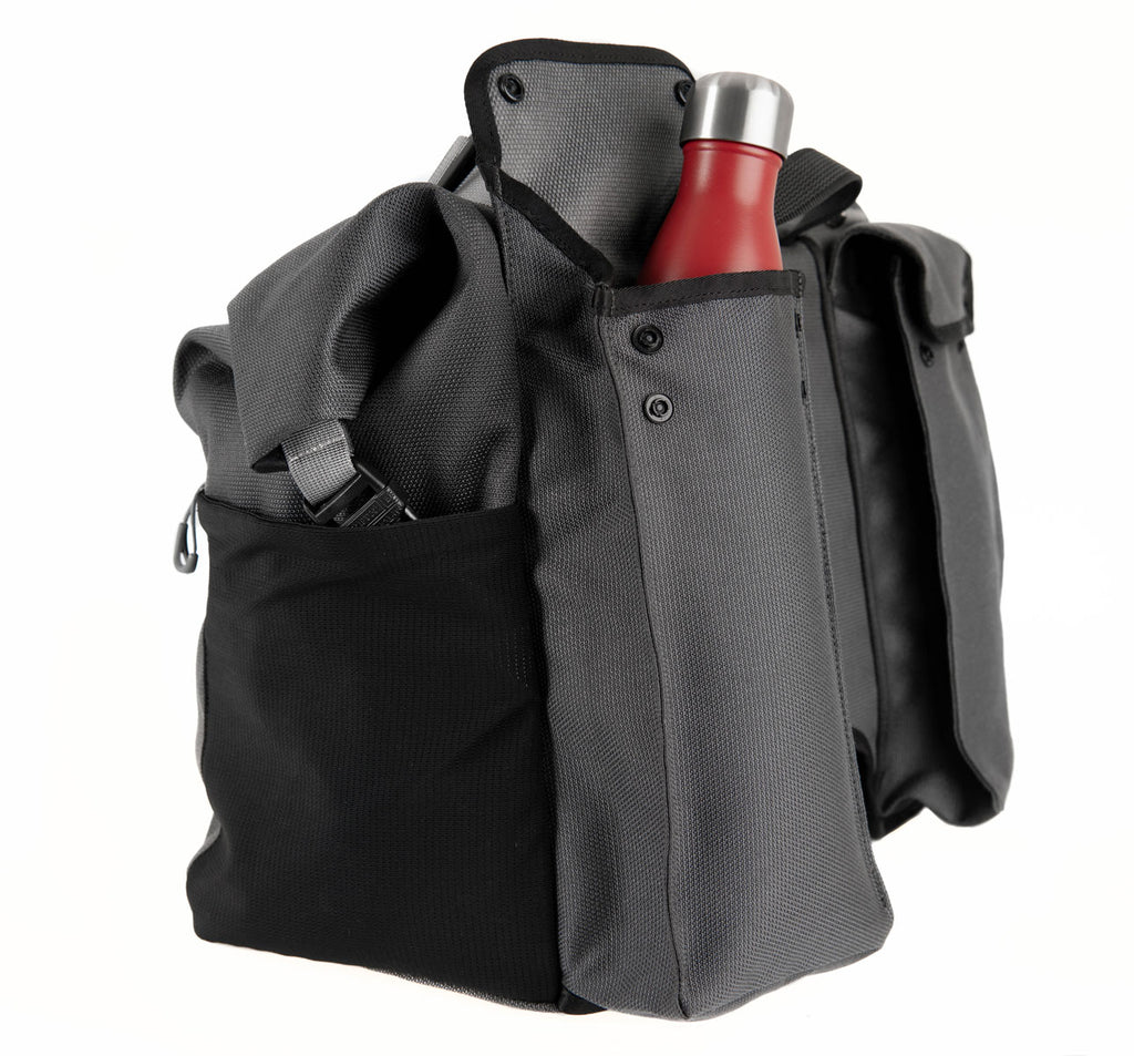 Brompton Borough Roll Top Bag L with Integrated Bottle Pocket