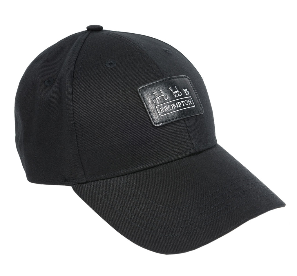 Brompton Bikes Logo Series Cap in Black with Leather Detail
