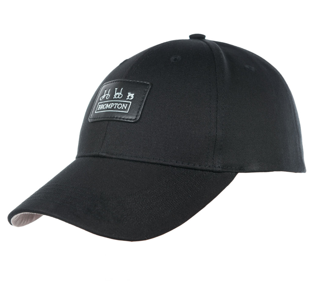 Brompton Bicycles Logo Cap with Black Leather Detail