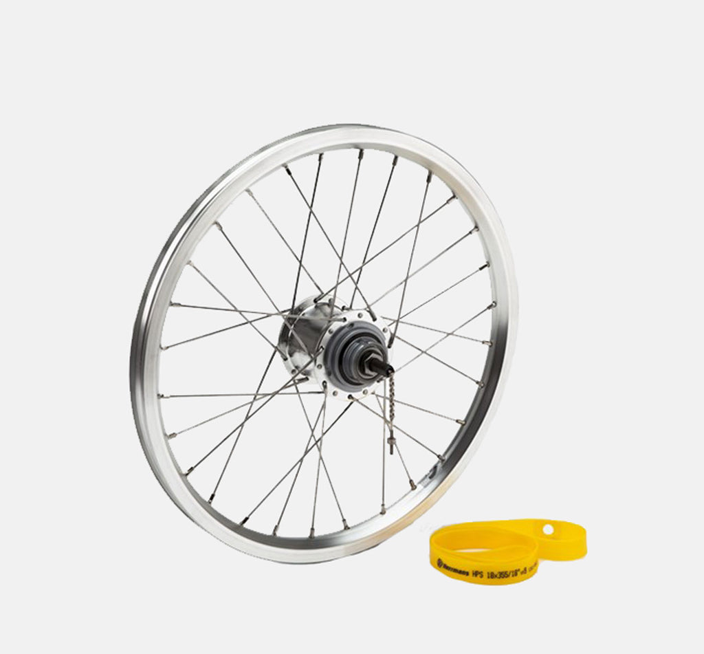 Brompton 3-Speed BSR Rear Wheel in Silver