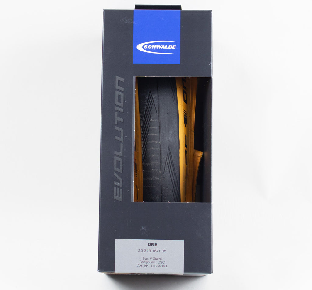 Schwalbe One Tire for Brompton Folding Bikes in Tan Wall