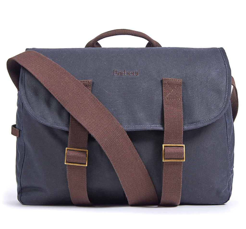 Brompton X Barbour Tarras Bag in Navy Blue