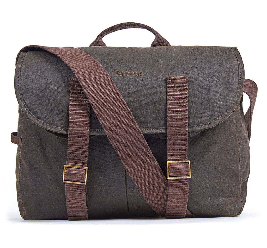 Brompton X Barbour Tarras Bag in Olive Green