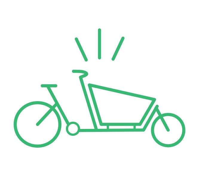 Cargo Bike Graphic for Curbside Cycle Sales Consultation