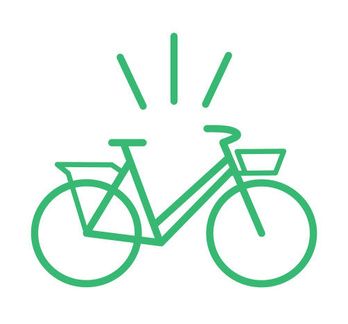 City Bike Graphic for Curbside Cycle Sales Consultation