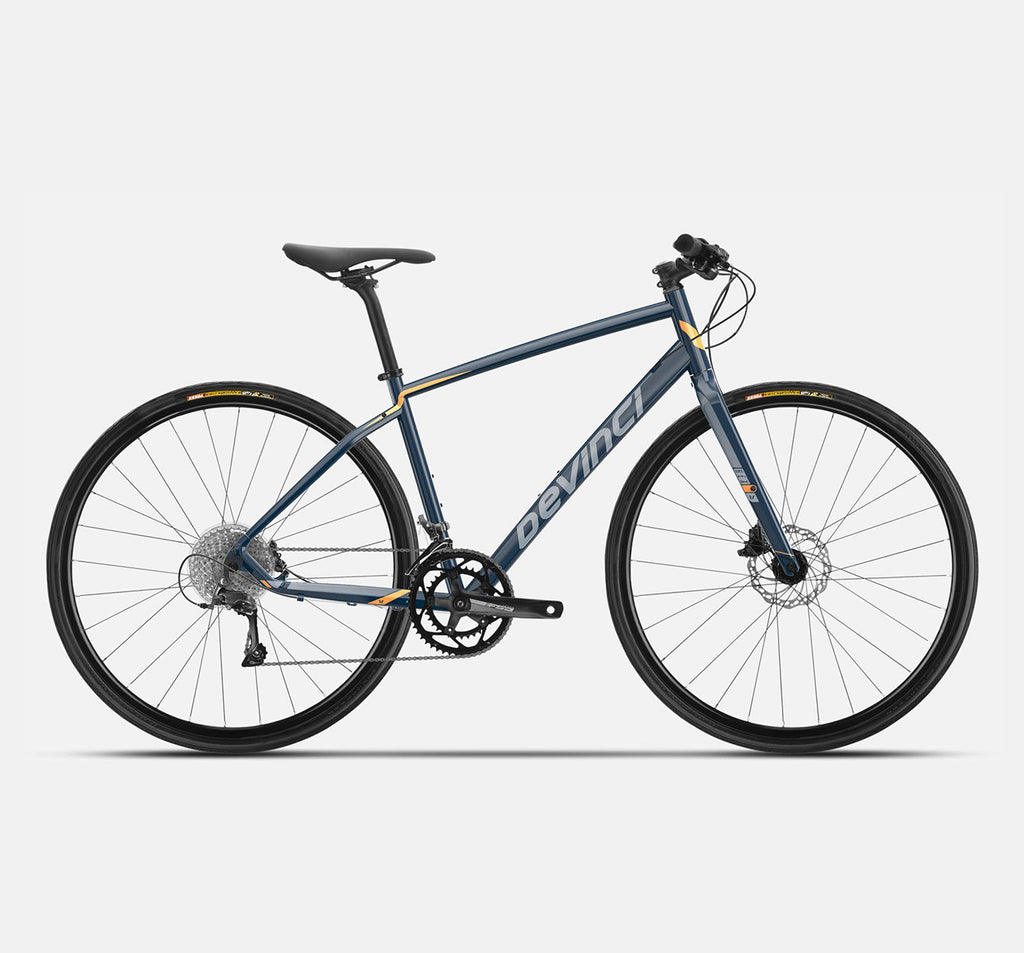 Devinci Hex Claris 2021 in Navy and Orange