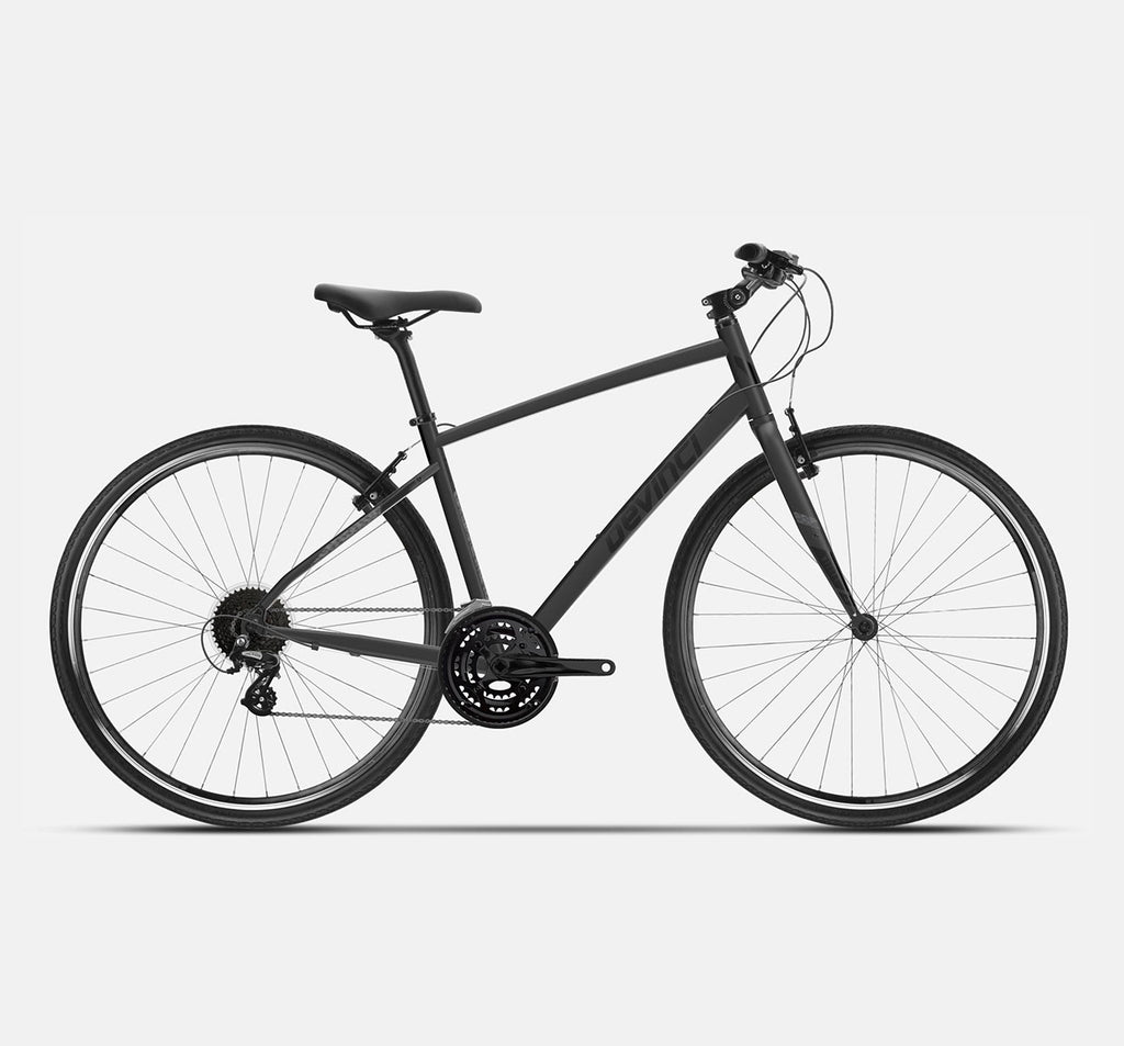 Devinci Milano Altus Hybrid Recreational Bike in Black - 2021