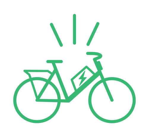 E-Assist Bike Graphic for Curbside Cycle Sales Consultation