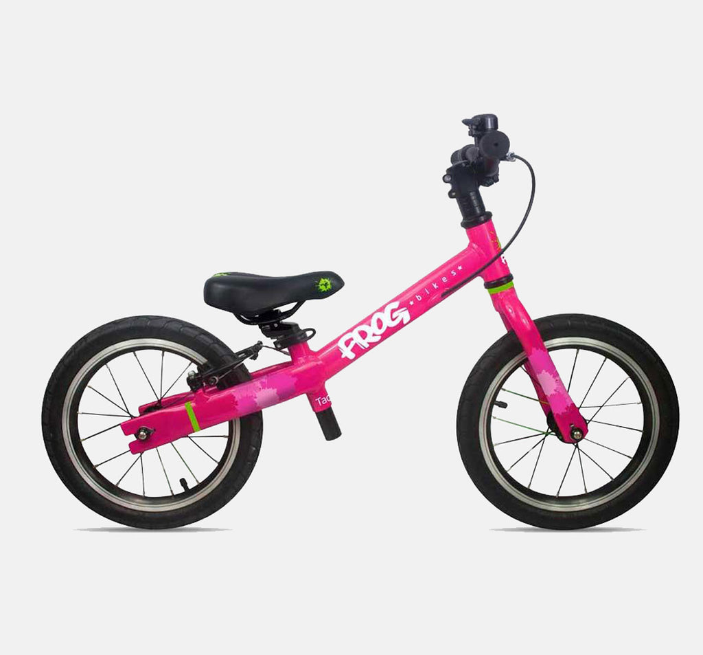 FROG TADPOLE PLUS BALANCE BIKE FOR 3-4 YEARS OLD IN BRIGHT PINK
