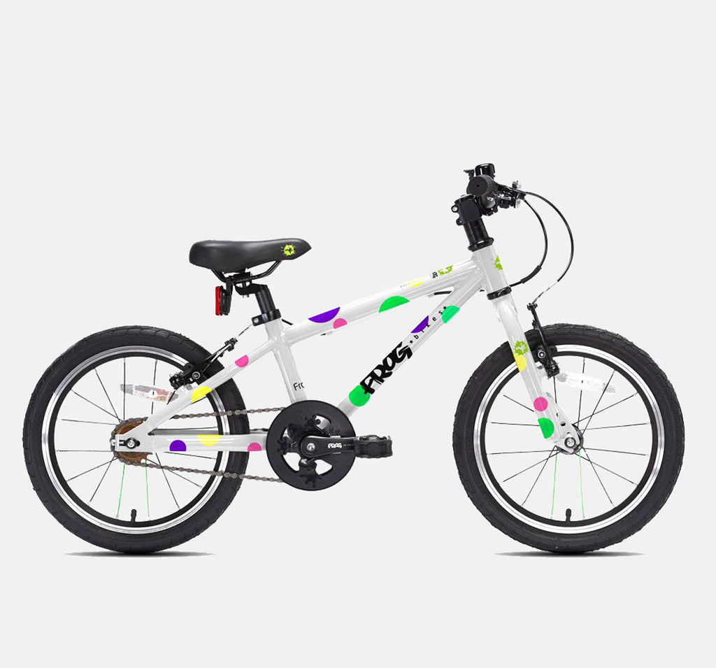 FROG 48 LIGHTWEIGHT ALUMINIUM SPOTTY PATTERN CHILDRENS BIKE