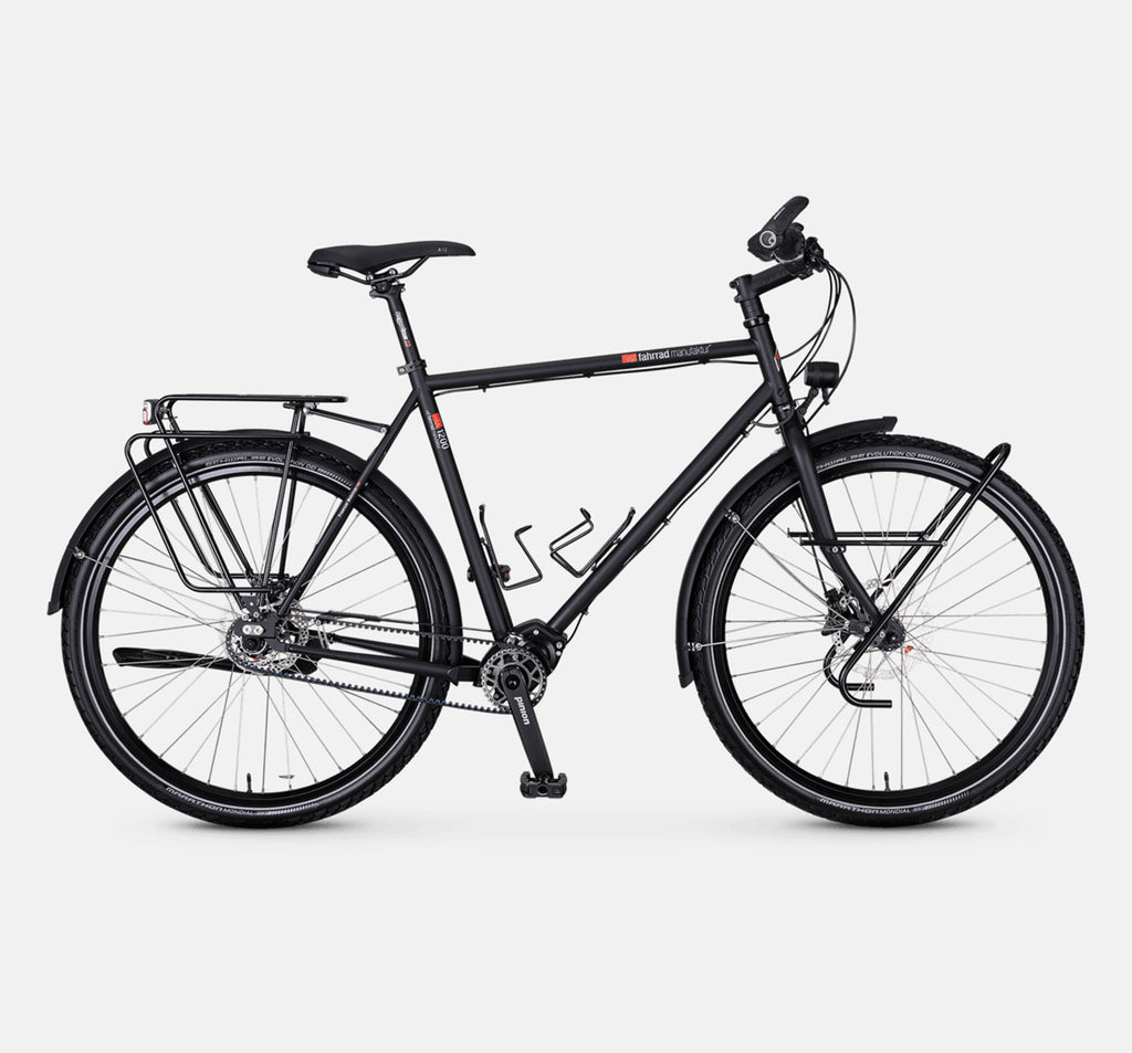Fahrrad Manufaktur TX-1200 Roadster Touring Bike with Pinion Gates Drive and Disc Brakes