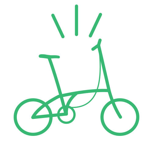 Folding Bike Graphic for Curbside Cycle Sales Consultation
