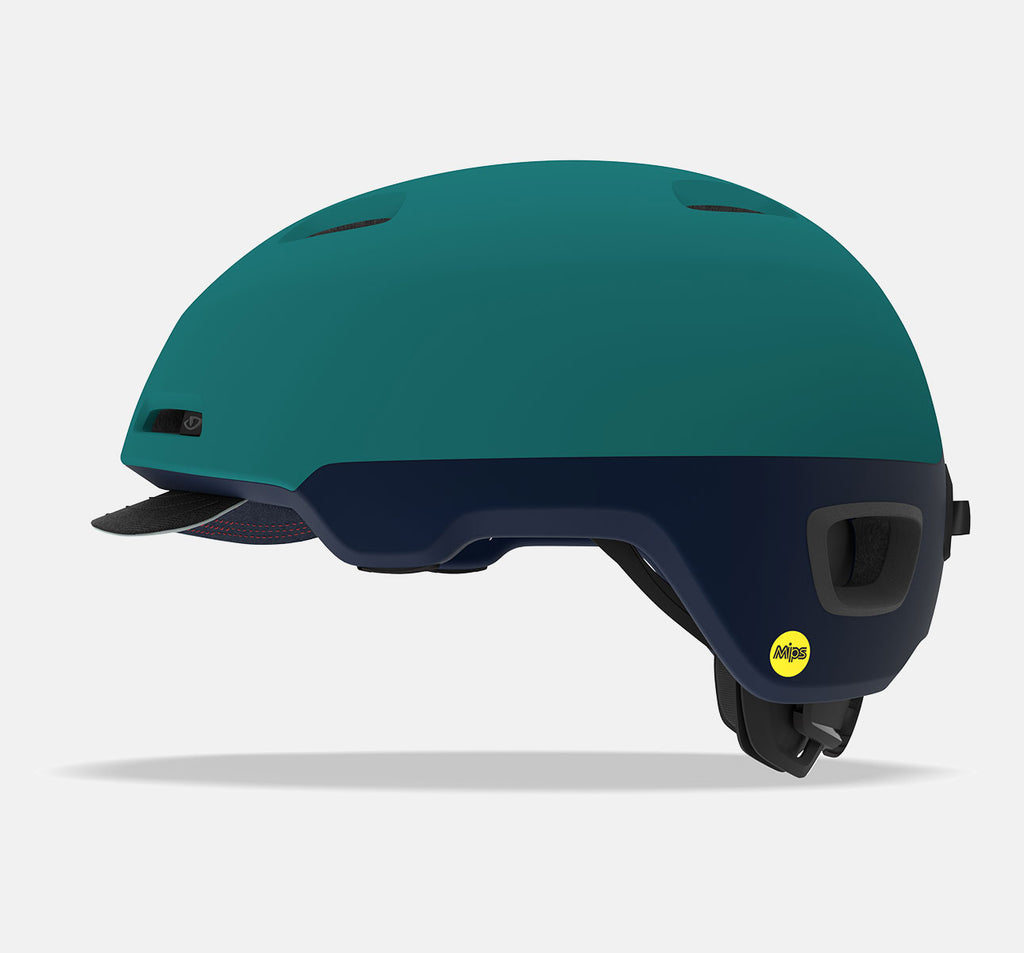 Giro Sutton MIPS Side View - Matte Dark Faded Teal