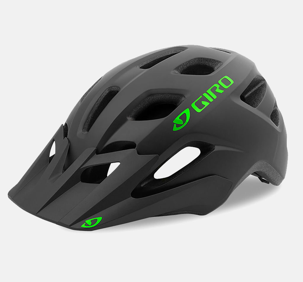Giro Tremor Youth Bike Helmet - Matte Black w/ Green Accents