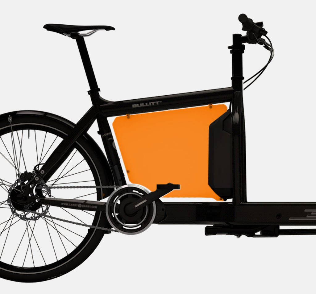 LARRY VS HARRY BILLBOARD FOR SHIMANO STEPS E-BULLITT CARGO BIKE IN CLOCKWORK ORANGE