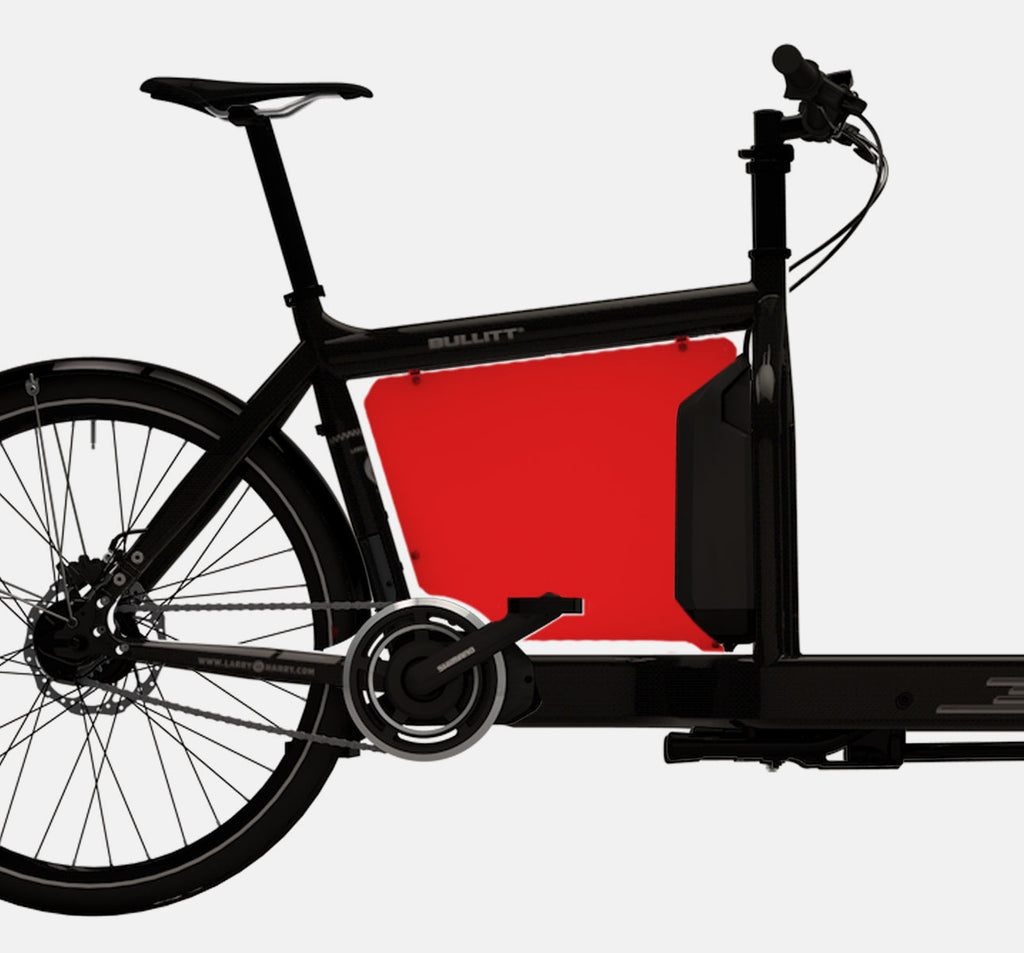 LARRY VS HARRY BILLBOARD FOR SHIMANO STEPS E-BULLITT CARGO BIKE IN PEPPER RED