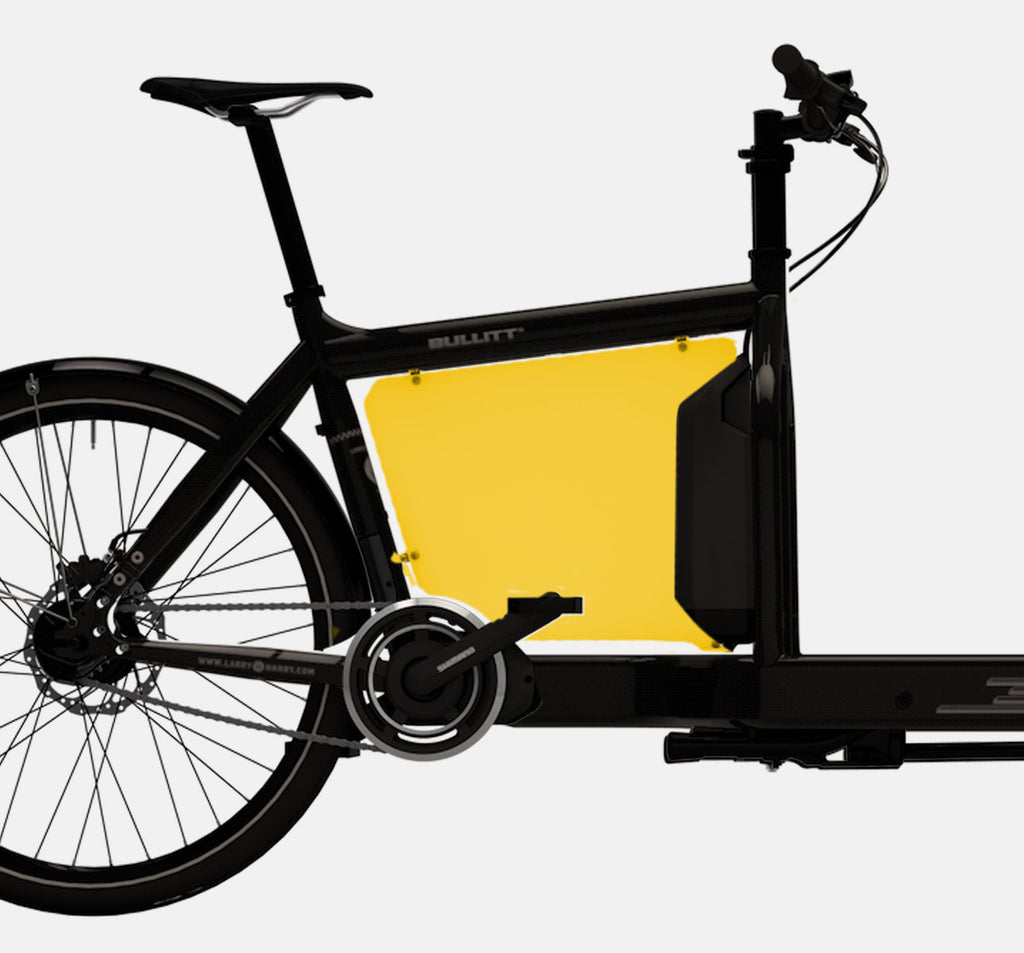 LARRY VS HARRY BILLBOARD FOR SHIMANO STEPS E-BULLITT CARGO BIKE IN SUBMARINE YELLOW