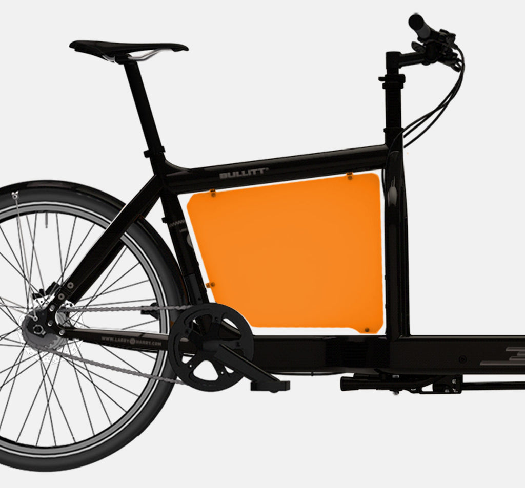 LARRY VS HARRY BILLBOARD FOR STANDARD BULLITT CARGO BIKE IN CLOCKWORK ORANGE