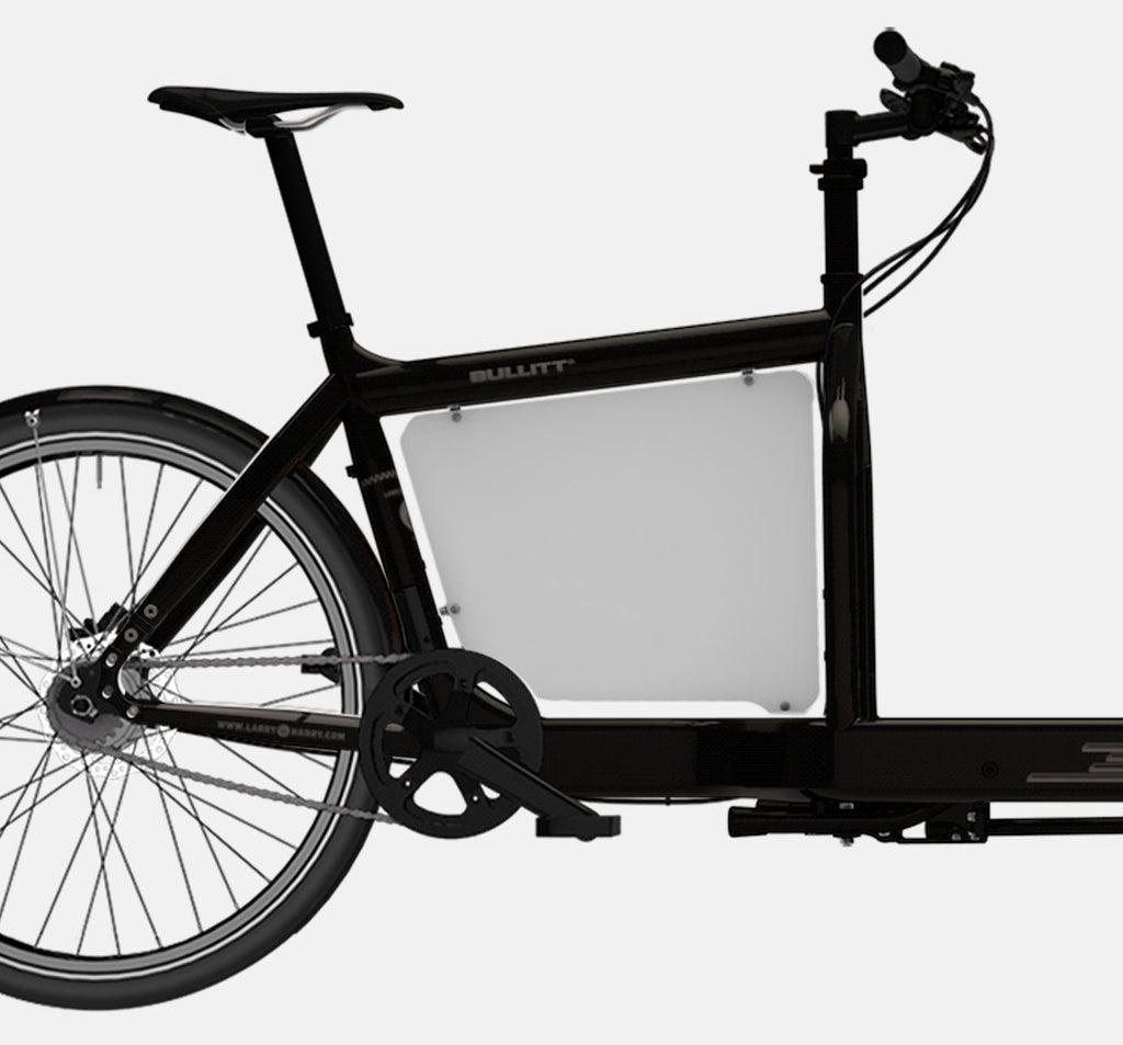 LARRY VS HARRY BILLBOARD FOR STANDARD BULLITT CARGO BIKE IN GREY