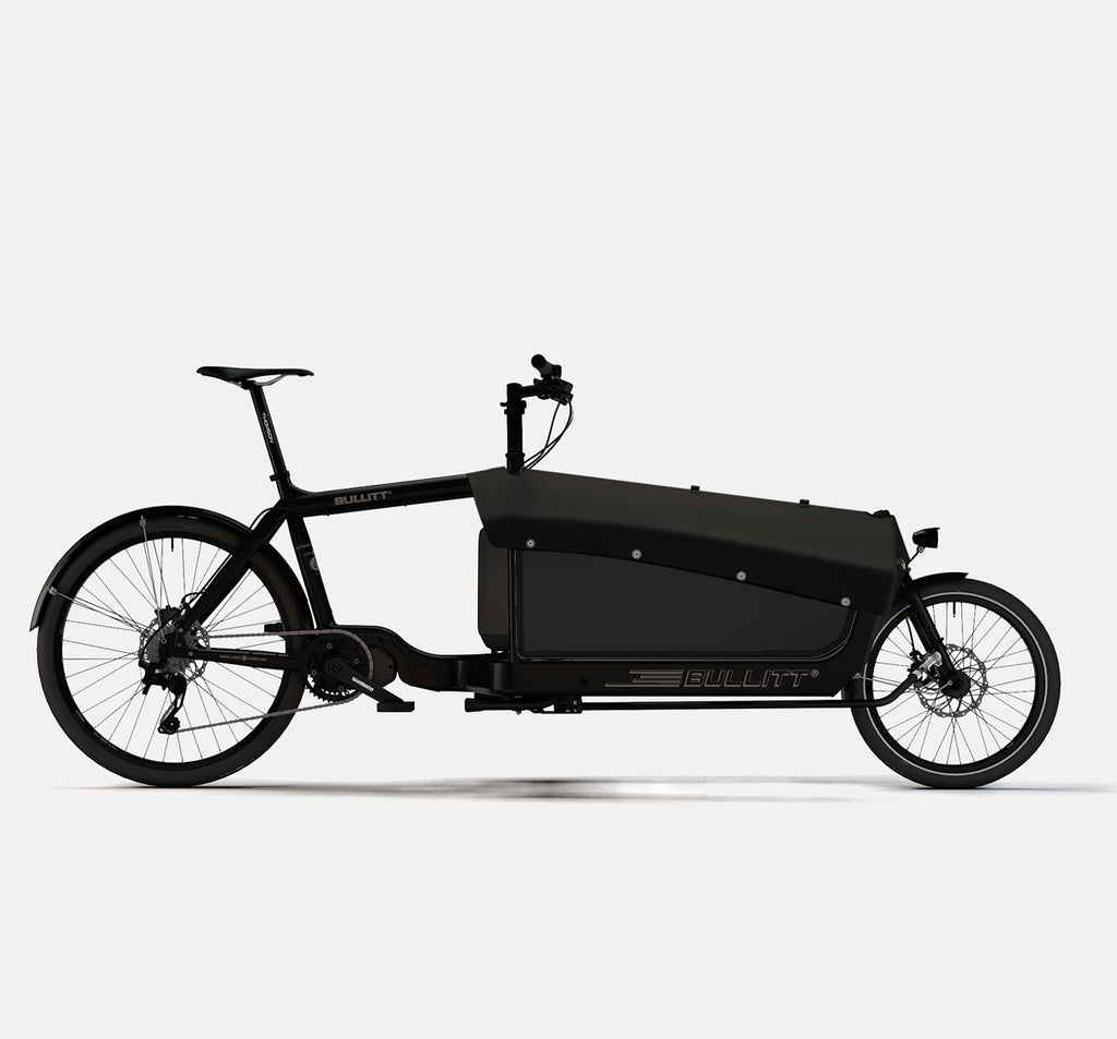 LARRY VS HARRY BULLITT SHIMANO STEPS E8000 CARGO BIKE WITH CARGO PACK IN CLASSIC BLACK