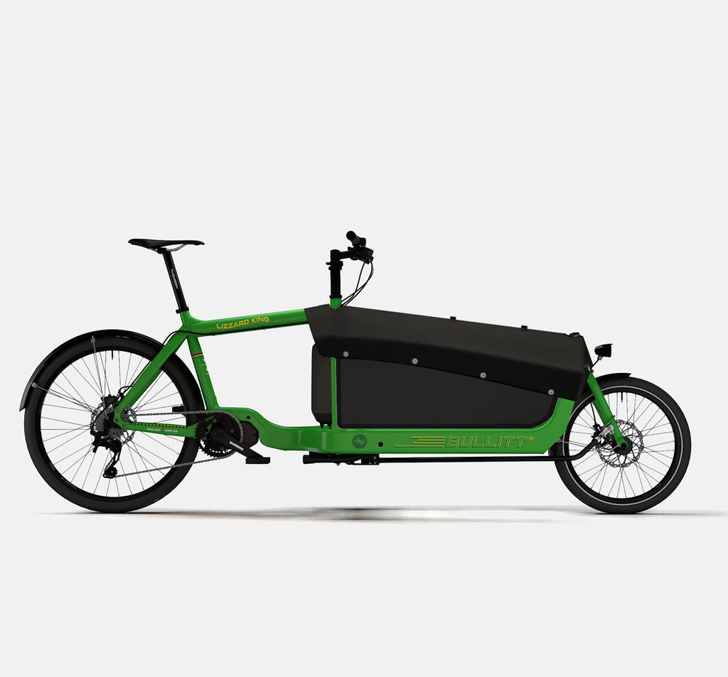 LARRY VS HARRY BULLITT SHIMANO STEPS E8000 CARGO BIKE WITH CARGO PACK IN LIZARDKING