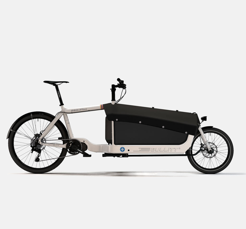 LARRY VS HARRY BULLITT SHIMANO STEPS E8000 CARGO BIKE WITH CARGO PACK IN MILK PLUS WHITE