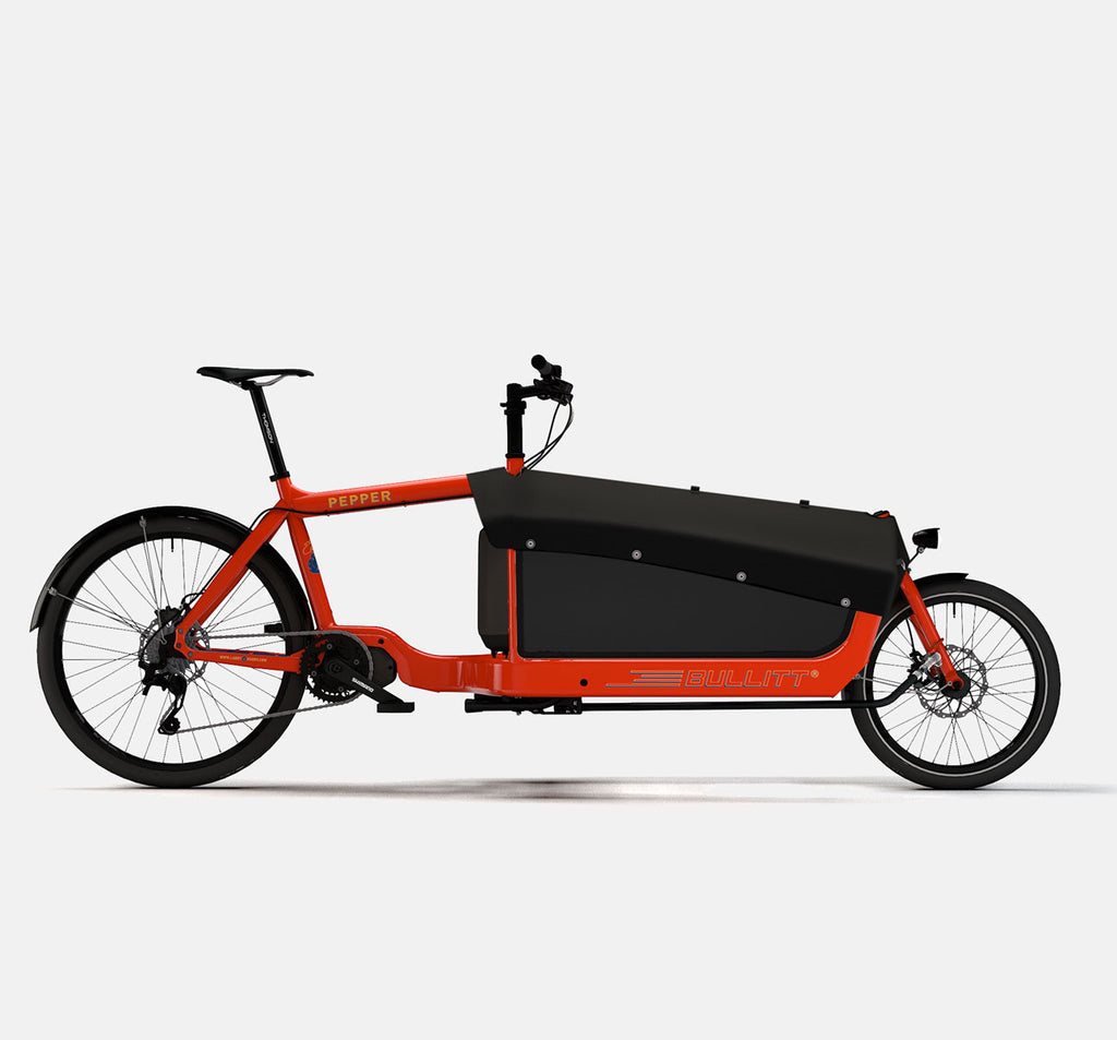 LARRY VS HARRY BULLITT SHIMANO STEPS E8000 CARGO BIKE WITH CARGO PACK IN PEPPER RED