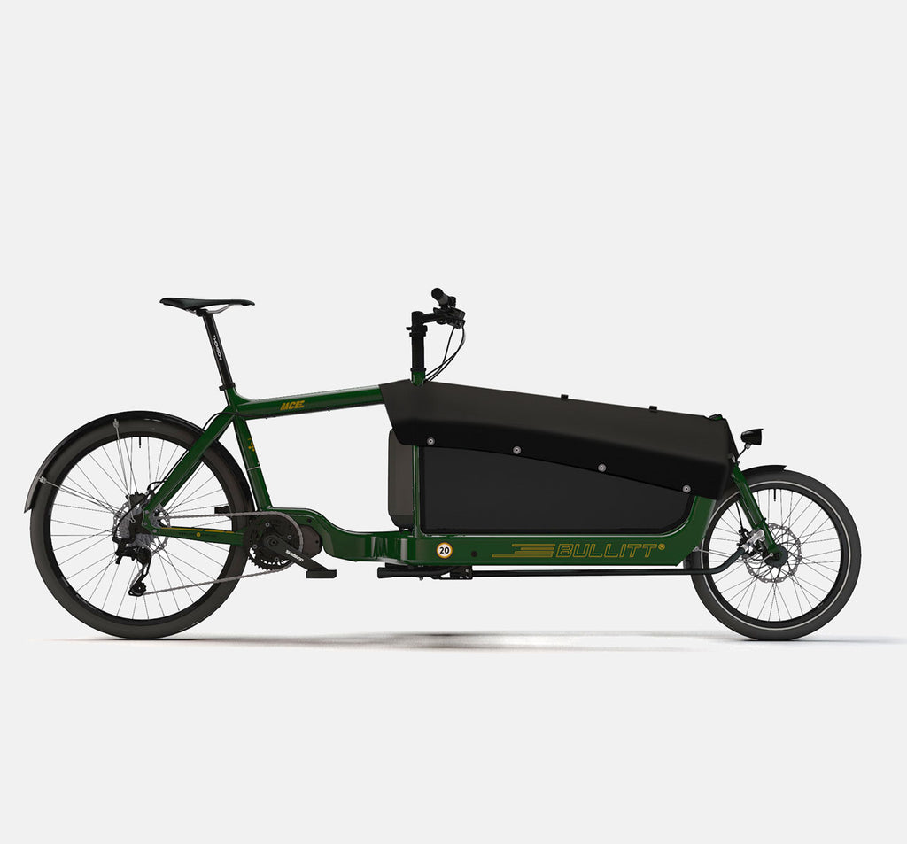 LARRY VS HARRY BULLITT SHIMANO STEPS E8000 CARGO BIKE WITH CARGO PACK IN RACE GREEN