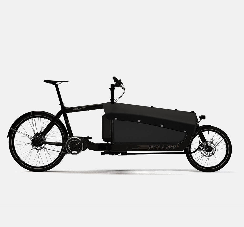 LARRY VS HARRY BULLITT SHIMANO STEPS E6000 CARGO BIKE WITH CARGO PACK IN CLASSIC BLACK